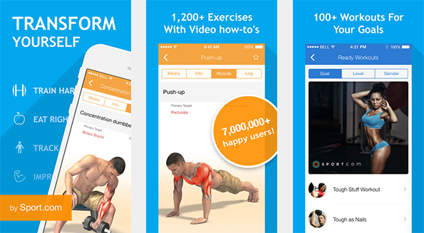 The fitness user can find some 1,200 different exercises in this fitness app. (Picture: iTunes)