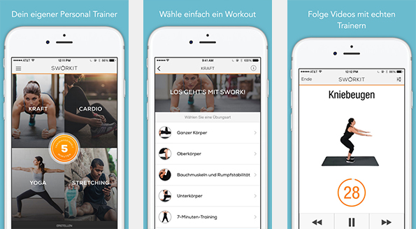 sworkit - Circuit training as an app. (Picture: iTunes)