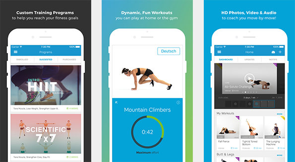 Workout Trainer - Whether weight loss, muscle build-up or improving fitness, the workout trainer covers all areas. (Picture: iTunes)