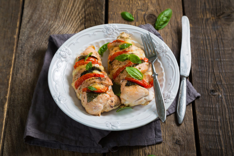 Stuffed Turkey Breast with Courgettes